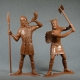 Barbarians, set No. 1 (2 pieces 150 mm, light brown) (80007)