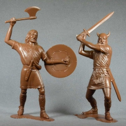 Barbarians, set No. 3 (2 pieces 150 mm, light brown) (80009)