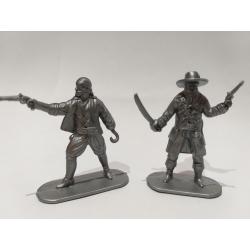 Пираты, 2 фигуры (цвет серый)