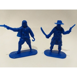 Pirates, two figures (blue) 002