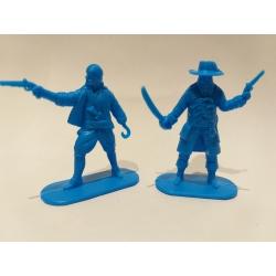 Пираты, 2 фигуры (цвет голубой) 002