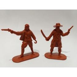 Пираты, 2 фигуры (цвет коричневый) 002