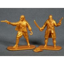 Пираты, 2 фигуры (цвет золотистый) 002