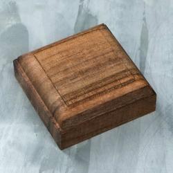 Wooden stand, 50x50x15 mm, walnut (2124378)