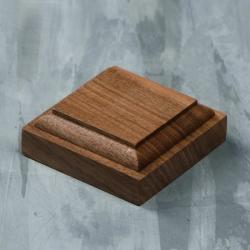Wooden stand 50х50х18 mm, walnut (4366904)