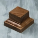 Wooden stand 50х50х35 mm, walnut (4366907)
