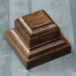 Wooden stand 50х50х40 mm, walnut (4366908)