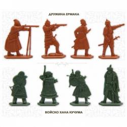 "Toy soldiers set ""Legends of Siberia"". Color: terracotta, dark green (GP001)"