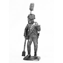 Артиллерист гвардейской пешей артиллерии c банником, 1812 г. (674)