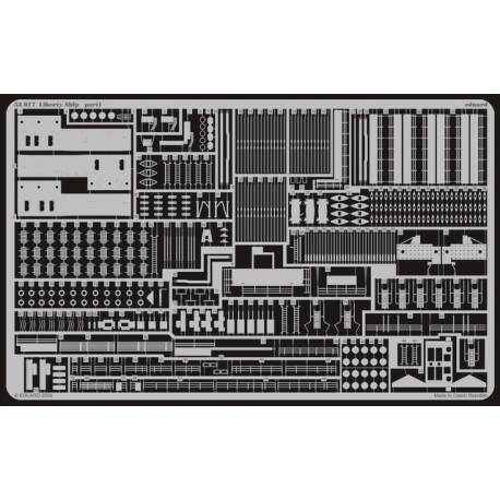 """Kit of photoetching for the russian cruiser """"Varyag"""" from Zvezda (ref. 9014) (MD 350206)"""