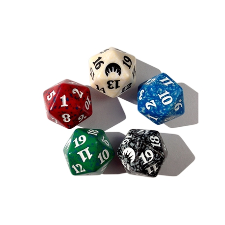 Dice D20 from Magic (specify color)