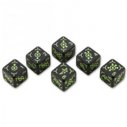 "Набор кубиков ""Ingress 6D6 Dice Set: Enlightened"" (191638)"