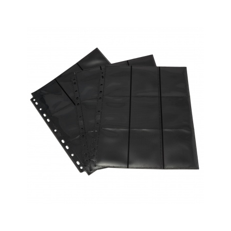 Double-sided sheet with pockets 3x3 with side loading - Blackfire (black) 402207