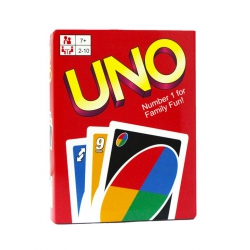 Cards for the board game UNO (plastic, box)