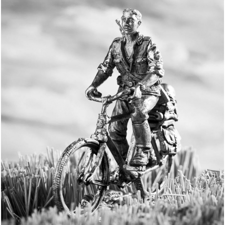 German soldier on a bicycle (695)