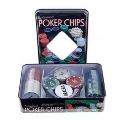 A set of poker for 100 chips in a tin box (240266)