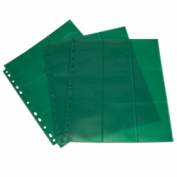 Double-sided sheet with pockets 3x3 with side loading - Blackfire (green) BAP50_0105