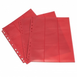Double-sided sheet with pockets 3x3 with side loading - Blackfire (red) 402207