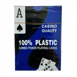 Карты пластиковые Casino Quality для покера (Синяя рубашка) 080287