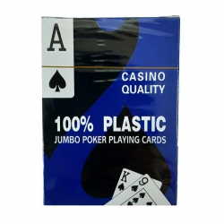 Casino Quality plastic cards for poker (Blue shirt) 080287