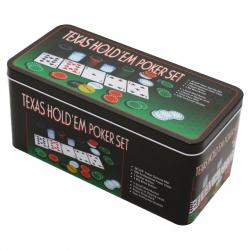 Набор покера на 100 фишек в жестяной коробке (240266)