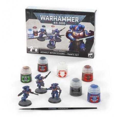 Space Marines: Assault Intercessors + Paints Set (60-11)