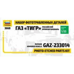 "Set of photo-etched parts GAZ ""Tiger"" (1124)"