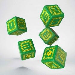 Набор игральных костей Орки: зеленый /жёлтый 5D6 ( 5 шт.) (WORK30)