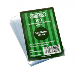 Transparent protectors Card-Pro Perfect Fit USA std for cards of Munchkin (100 шт.) 58x88 mm ()