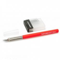 Дизайнерский нож с 25 доп.лезвиями с красной ручкой (69938)
