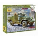 Armored personnel carrier M-3 SCOUT CAR car with machine gun (6273)