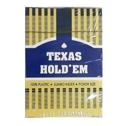 Plastic Poker cards Texas Hold Em dark blue (Red Shirt) 235755