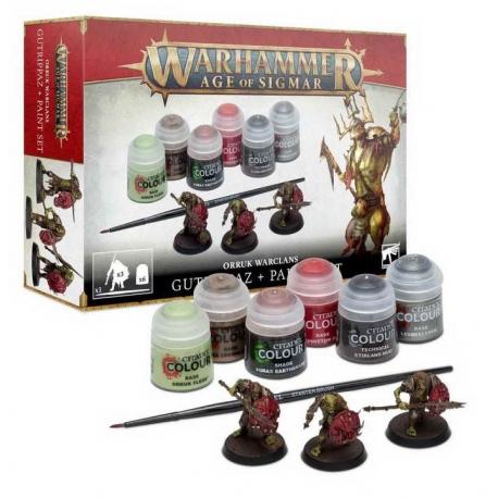 AOS Orruk Warclans Gutrippaz + Paints Set (60-09)
