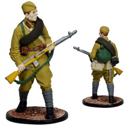 Private of the Red Army. USSR, 1941-43. Painted (ww2-27c)