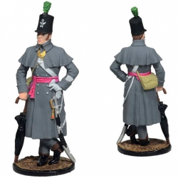 Officer, 54th Oxfordshire Light Infantry. Great Britain, 1812-15. Painted (NAP-87c)
