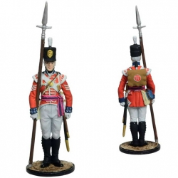 Sergeant of the King's 4th Own Regiment. Great Britain, 1802-06. Painted (NAP-88c)