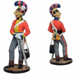 Рядовой 3-го драгунского собственного полка Короля. Великобритания, 1812 г. В росписи (NAP-89c)