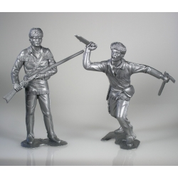 American scouts, set of two figures 1 (15 cm)