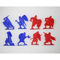 """Набор """"Невская битва"""". Полный комплект, 8 фигур в 8 позах."""