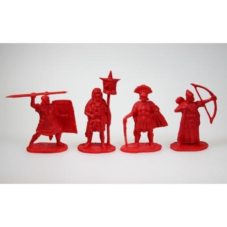 """""""Римские легионеры, набор 1 """". Полный комплект, 4 фигур в 4 позах."""