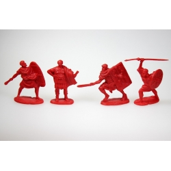 """Roman legionaries, set 2"". A complete set of 4 figures in 4 poses."