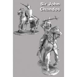 Сир Джон Чандос кавалер Ордена Подвязки Сенешаль Пуату и маршал Аквимтании. Битва при Креси
