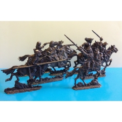 30-year-old war. The army of the Swedish king Gustavus Adolphus. Cavalry, 40 mm, zamak