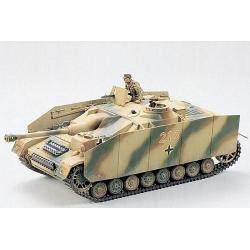 1/35 Немецкая САУ Sturmgeschutz IV(sdkfz163) с бронированными гусеничными экранами и 1 фигурой танкиста WWII (35087)