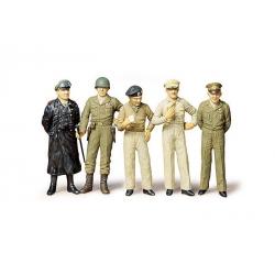 1/35 генералы 2-й мировой войны: Patton, Eisenhower, Macarthur, Montgomery, фельдмаршал Роммель WWII