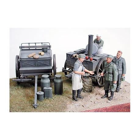 1/35 German Field Kitchen Scenery WWII - Магазин солдатиков - soldatikov net