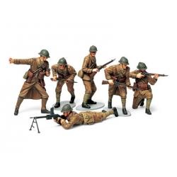 1/35 Набор французской пехоты, 6 фигур, с вооружением и амуницией WWII