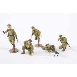 1/35 Британские пехотинцы с командиром 1-й мировой войны (5 фигур)