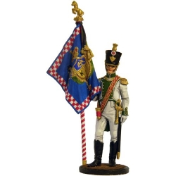 "Officer-bearer of the 5th Regiment of the Line ""Real Calabria."" Naples, 1811-12"