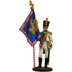 """Офицер-знаменосец 5-го линейного полка """"Реал Калабрия"""". Неаполь, 1811-12 гг."""